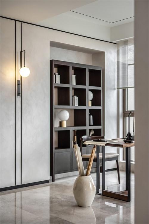風韻清逸室內裝修效果圖 靜雅新中式鋁合金門圖片大全