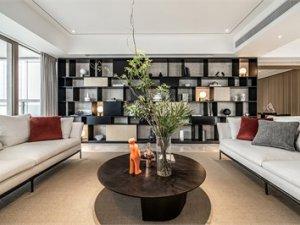 风韵清逸室内装修效果图 静雅新中式铝合金门图片大全