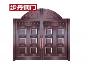 步丹铜门别墅庭院大门花园围墙大门不锈钢铜门