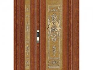 艺和门业795-8实木锯齿黄橡