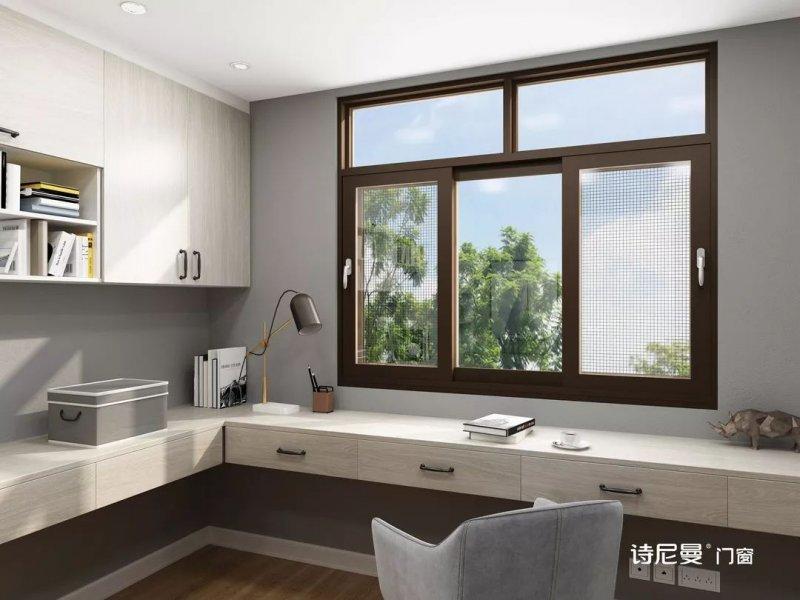 诗尼曼门窗图片 铝合金平开窗效果图