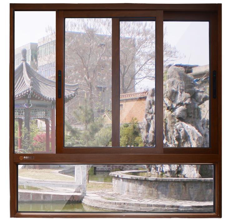 伟业铝材门窗图片 90断桥推拉窗效果图