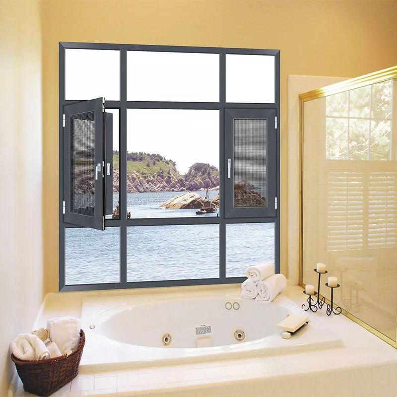 美之选门窗图片 铝合金平开窗效果图