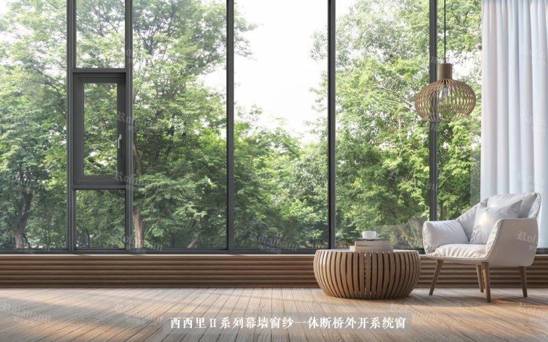 罗兰西尼门窗图片 铝合金平开窗效果图