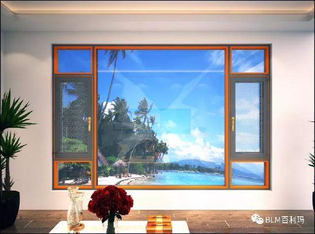 百利玛门窗图片 拿破仑系列产品效果图