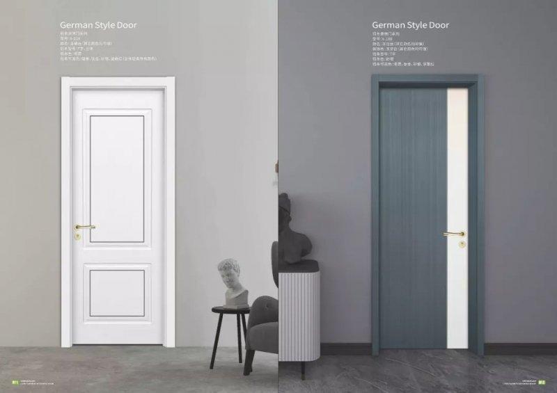 新豪轩门窗图片 轻奢风格低碳木门效果图