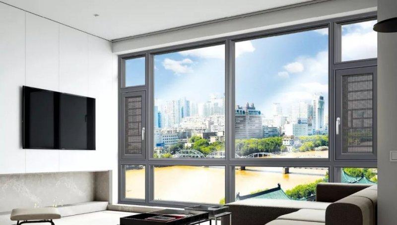 金福門窗圖片 鋁合金平開窗效果圖