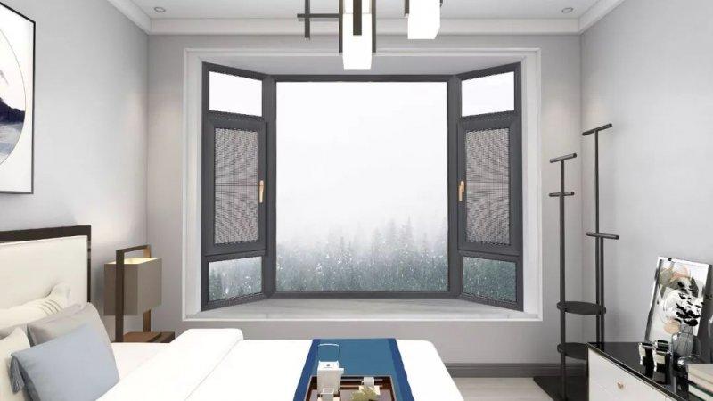 亮閣門窗圖片 鋁合金平開窗效果圖