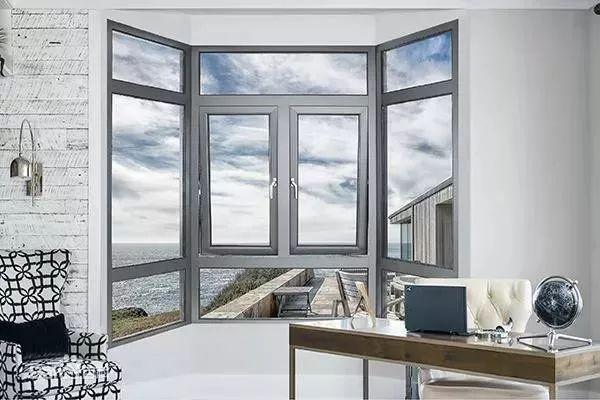 维盾门窗图片 铝合金平开窗效果图