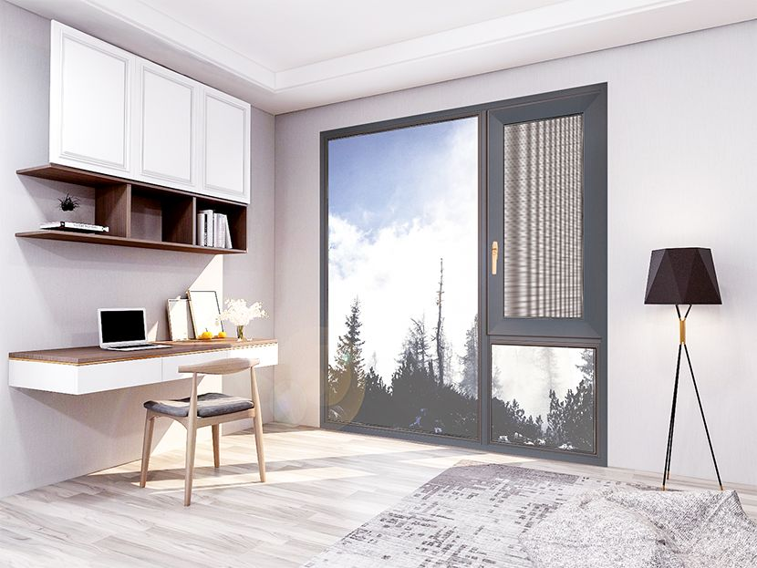 亮阁门窗图片 铝合金平开窗效果图