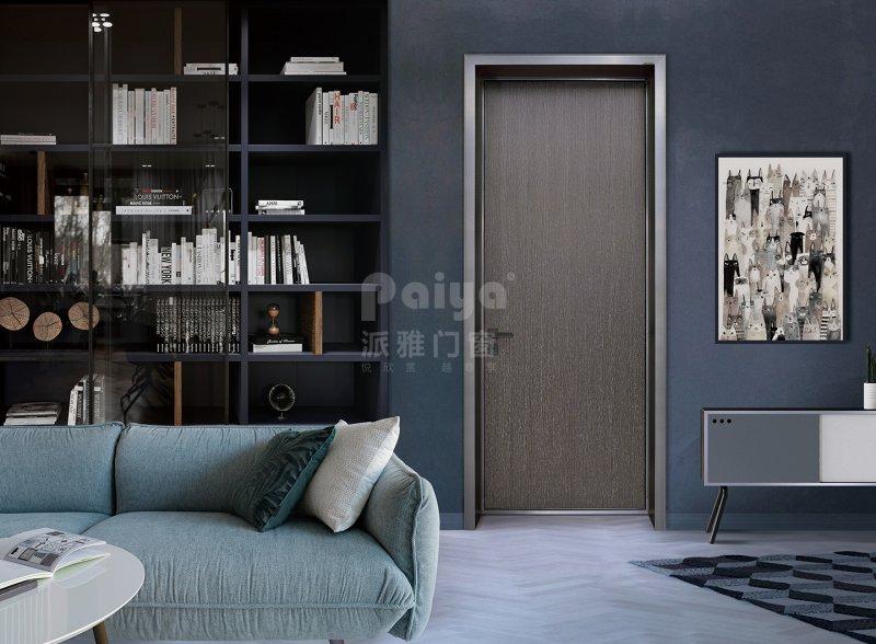 派雅门窗图片 简爱铝木生态门效果图