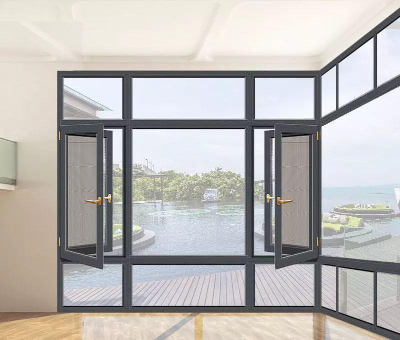 乔居门窗图片 铝合金平开窗效果图