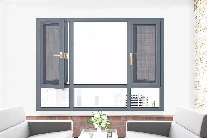 老赖不赖门窗图片 铝合金平开窗效果图
