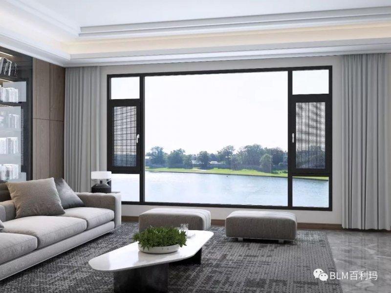 百利玛门窗图片 铝合金平开窗效果图
