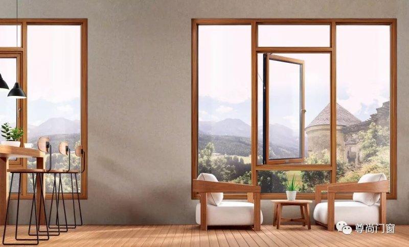 尊尚门窗图片 一体平开窗效果图