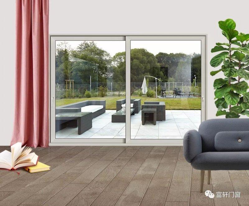 富轩门窗图片 铝合金推拉折叠门效果图