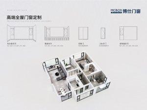 博仕门窗产品结构细节图展示