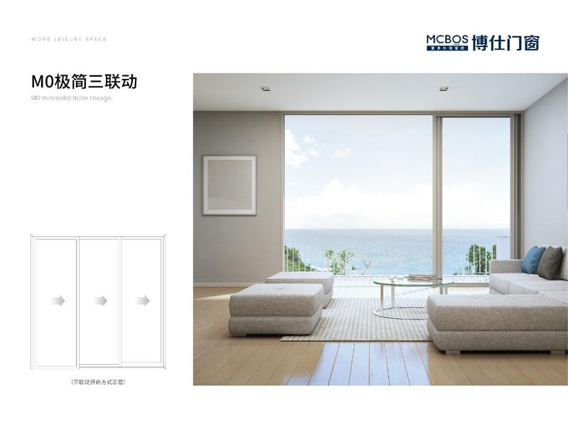 博仕門窗M0極簡三聯動產品裝修效果展示圖