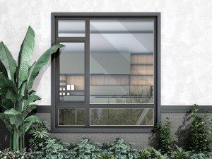 致尚门窗图片 铝合金平开窗效果图