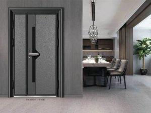 新豪轩门窗图片 精雕铸铝防爆门云长系列效果图