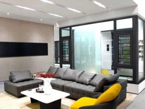 新豪轩门窗图片 铝合金平开窗效果图