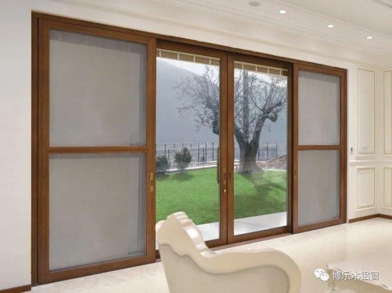 博乐木铝窗图片 推拉门系列产品效果图