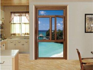 红橡树门窗 铝包木门窗平开窗图片
