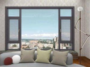 富利隆门窗 简约风格平开门窗效果图片
