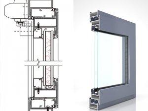 广东兴发系统EW58防火窗 系统门窗